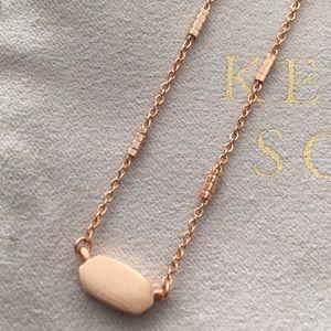 Kendra Scott Fern Necklace Rose Gold
